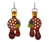 Earrings - Honeycomb Drop with Bee