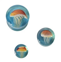 Jellyfish - Amber/Purple on Caribbean Blue
