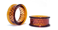 Eyelet Overlay - Honeycomb on Amber (32mm)
