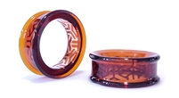 Eyelet Overlay - Bishamon Kikko on Amber (38mm)