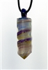Amber Purple Ribbon Crystal Pendant
