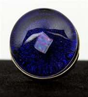 Raw Opal on Purple Foil Silver Ring