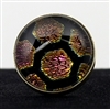 Pink and Yellow Honeycomb Foil Pattern Silver Ring