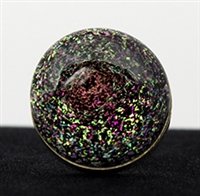 Pink and Gold Galaxy Silver Ring