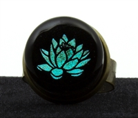 Lotus Foil Image Ring
