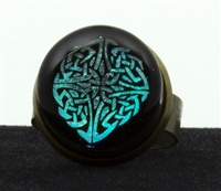 Celtic Dara Knot Foil Image Ring
