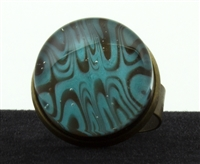 Aqua Brown Marble Ring