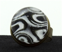 Black White Marble Ring