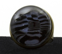Purple Black Marble Ring