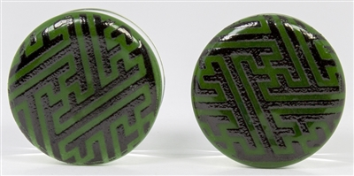 Black Sayagata on Green DF (19mm)