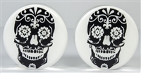 Black Sugar Skull on White DF (38mm)