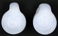 Jade White Coin Swirl Weights