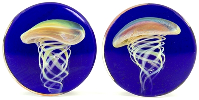 Amber Purple Jellyfish on Cobalt DF (32mm)