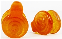 Orange Slime Swirl Coin Weights