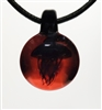 Black Jellyfish on Cherry Pendant