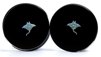 Stingray Opals on Black Plugs
