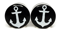 White Anchor on Black Plugs DF