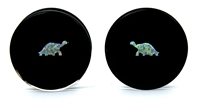 Tortoise Opals on Black Plugs