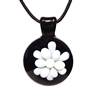 White Koosh Pendant