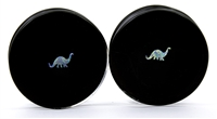 Brontosaurus Opals on Black Plugs