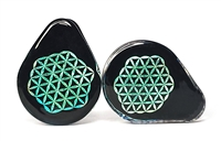 Dichro Image Teardrops - Flower of Life (32mm)