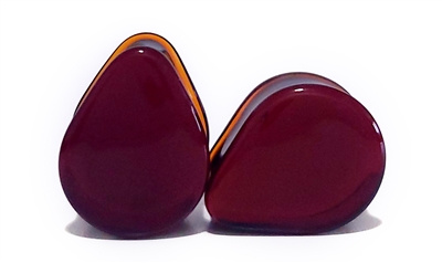 Solid Color Teardrop - Amber (19mm)