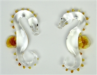 Clear and Caramel Seahorse Weights