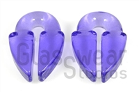 Large Translucent Purple Keyhole Weights