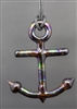 Oil Slick Anchor Pendant