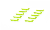 SMALL BODY CLIP 1/10 - FLUORESCENT YELLOW (10)