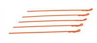 EXTRA LONG BODY CLIP 1/10 - FLUORESCENT RED (5)