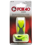 Fox 40 Sharx Pealess Whistle with Breakaway Lanyard