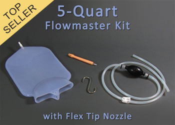 5-Quart Silicone Home Enema Kit with Flex Tip Nozzle