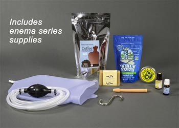 Silicone Coffee Enema Kit with Flex Tip Nozzle