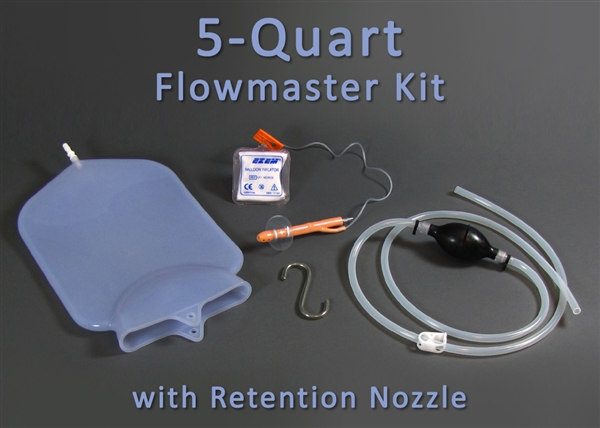 5 Quart Silicone Flowmaster Complete Colon Cleansing Kit
