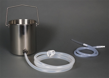 2-Quart Bucket Easy Enema Kit with Silicone Colon Tube