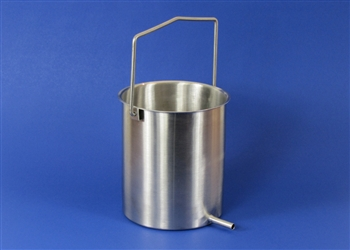 2-Quart Stainless Steel Enema Bucket with Handle
