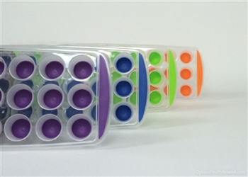 Rounded 21 Cube Suppository Tray