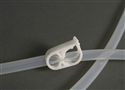 Enema Hose Clamp White Plastic