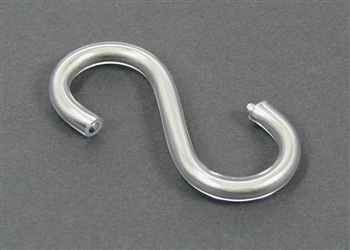 Vinyl-Coated, Stainless Steel Enema Bag S-Hook