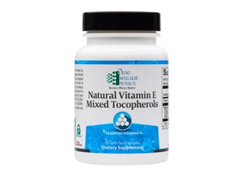 Ortho Natural Vitamin E Mixed Tocopherols - 60 capsules