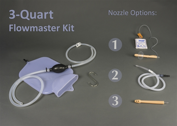 3-Quart Silicone Colon Tube Flowmaster Complete Colon Cleansing Enema Kits