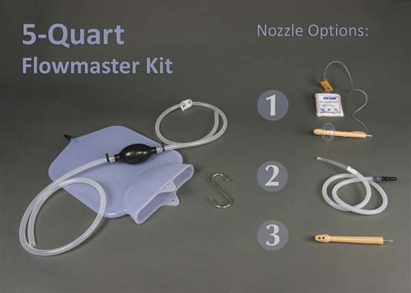 5-Quart Silicone Colon Tube Flowmaster Complete Colon Cleansing Enema Kit