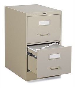 Global 2 Drawer Vertical Filing Cabinet Legal