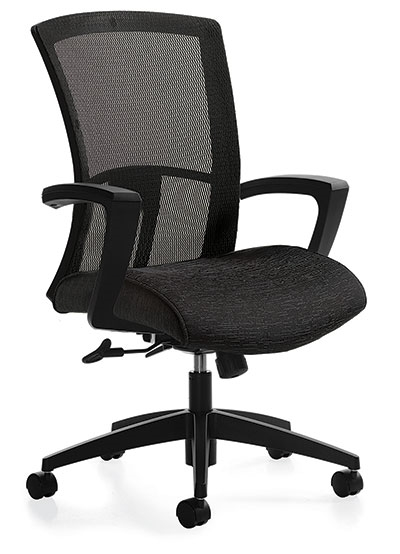 Global Vion In Stock Black Mesh Office Chair From Boca