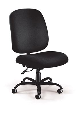 BIG AND TALL UPHOLSTERED ARMLESS SWIVEL TASK CHAIR