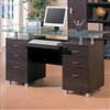 Glass Top Home Office Desk