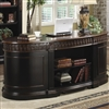 Traditional Oval Executive Double Pedestal Desk