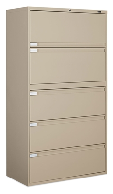 "Global 5 Drawer 36""W  Filing Cabinets"
