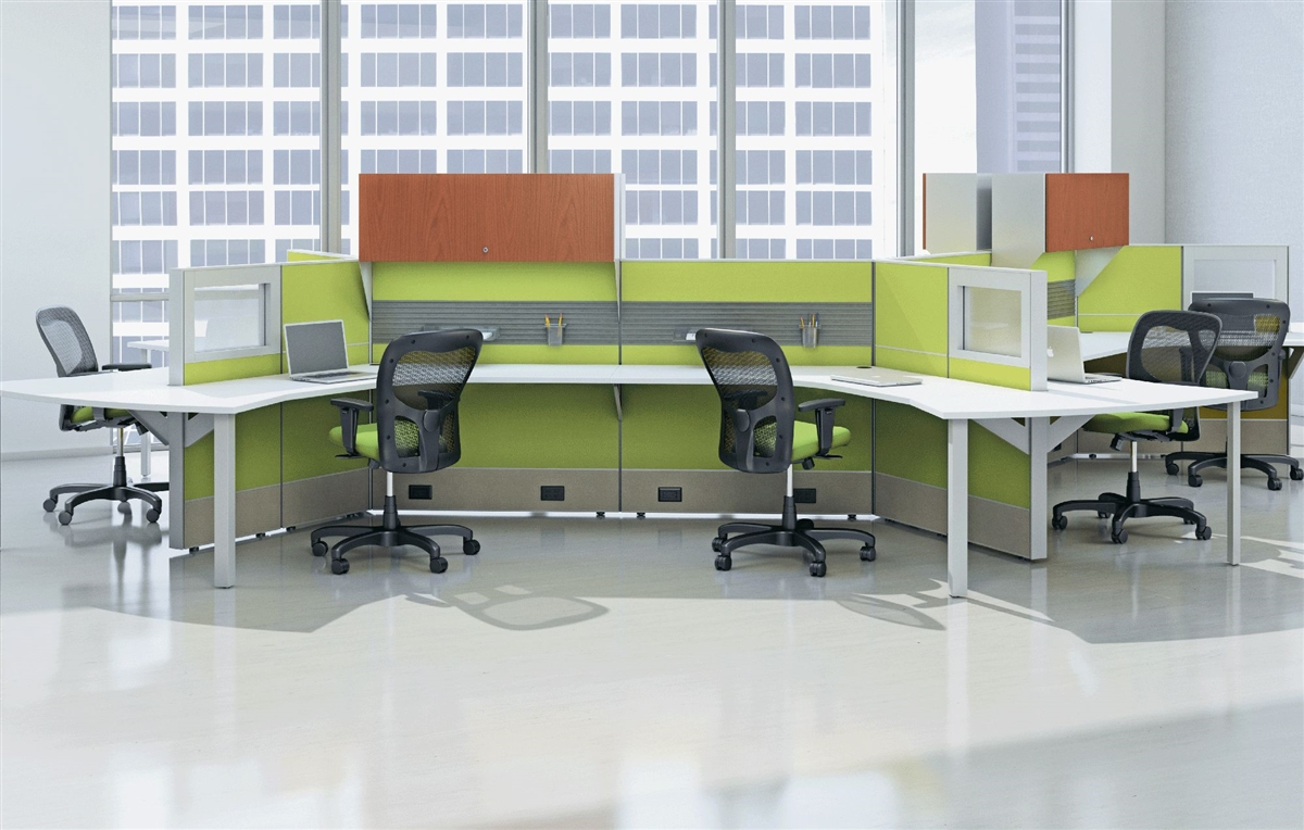 Ais Matrix Open Plan Segmented Tile Cubicle Workstations